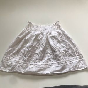 Calvin Klein White Petite 100% cotton Skirt